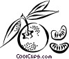 Vector Clipart graphic  of a oranges