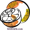 Sliced Oranges Vector Clip Art picture