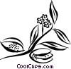 Vector Clip Art graphic  of a fruit