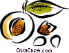 Peaches Vector Clip Art graphic
