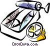 Sardines Canned Fish Vector Clipart illustration