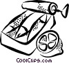 Vector Clip Art image  of a sardines