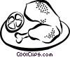 Vector Clipart illustration  of a chicken leg
