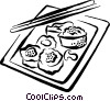 Vector Clip Art graphic  of a sushi