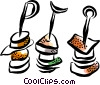 Shish kebabs Vector Clip Art picture