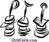 Vector Clipart picture  of a shish kebabs