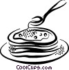 Vector Clip Art graphic  of a pancakes