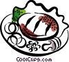 Steak Dinner Vector Clipart illustration