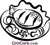 Vector Clip Art image  of a supper