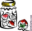 Vector Clipart illustration  of a Preserves