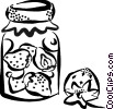 Vector Clip Art graphic  of a preserves