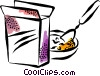 Cold Cereals Vector Clipart picture