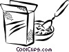 Vector Clip Art graphic  of a cereal