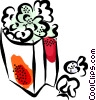 Popcorn Vector Clipart image