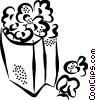 Vector Clipart picture  of a popcorn