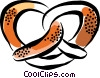 Vector Clipart graphic  of a Pretzels