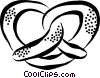 Vector Clipart graphic  of a pretzel