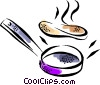 Vector Clip Art image  of a Frying Pans