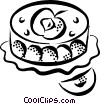 Vector Clipart image  of a pastries