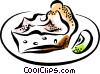 Vector Clipart illustration  of a Pies
