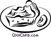 Vector Clipart graphic  of a pie