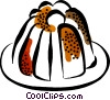 Vector Clip Art graphic  of a Christmas Puddings