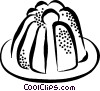 Vector Clipart graphic  of a Christmas pudding