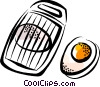 Vector Clip Art graphic  of a Eggs