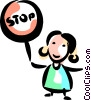 Vector Clipart picture  of a Crossing Guards