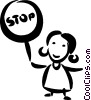Vector Clipart graphic  of a Crossing Guards