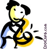 Vector Clipart illustration  of a Saxophonists