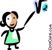 Math teacher Vector Clip Art image