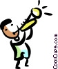 man playing his trumpet Vector Clip Art picture