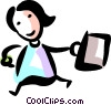 Businesswomen walking to work Vector Clipart picture