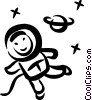 Astronauts Vector Clipart illustration
