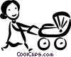 Strollers and Carriages Vector Clipart picture