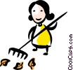 Vector Clipart illustration  of a Rakes