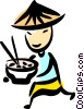 Vector Clipart picture  of a Japanese