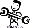 Vector Clip Art image  of an Auto Mechanics