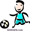 Soccer Player Vector Clip Art picture