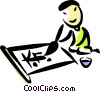 Vector Clip Art graphic  of a China