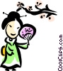 Japanese Woman Vector Clipart picture