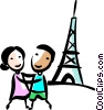 Vector Clipart picture  of a Eiffel Tower
