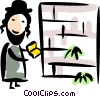 Vector Clip Art graphic  of a Rabbi