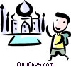 Tourist in Egypt Vector Clip Art picture