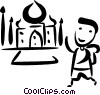Vector Clip Art graphic  of a Egypt