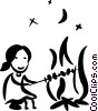 Vector Clipart illustration  of a Campfire