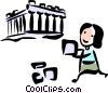 Tourist visiting Rome Vector Clipart picture