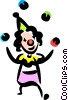 Clown juggling Vector Clipart illustration
