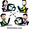 Intranet concept Vector Clip Art graphic